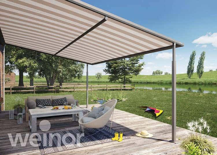 plaza home pergolamarkise en meget flot markise til din. Black Bedroom Furniture Sets. Home Design Ideas
