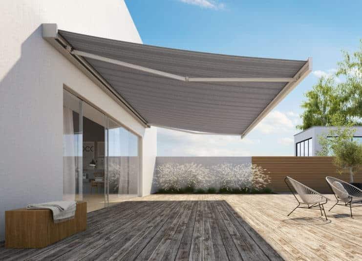 markise til terrasse eller butik i flot design. Black Bedroom Furniture Sets. Home Design Ideas