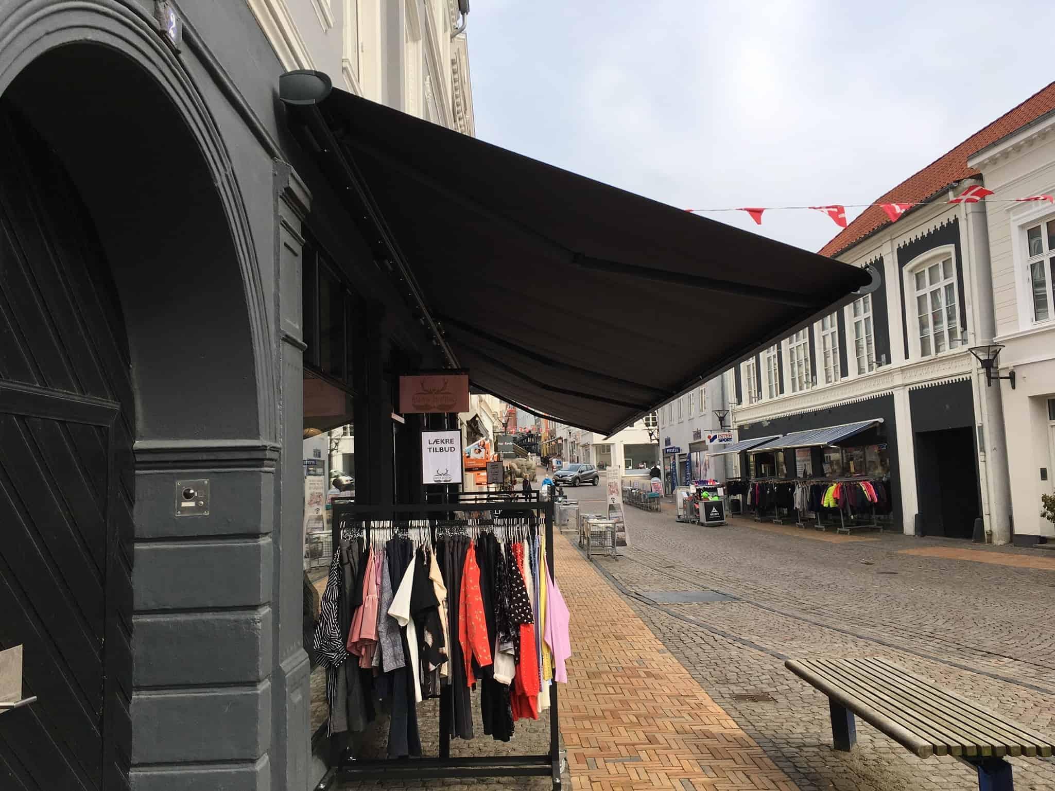 Butiksmarkiser i flot design
