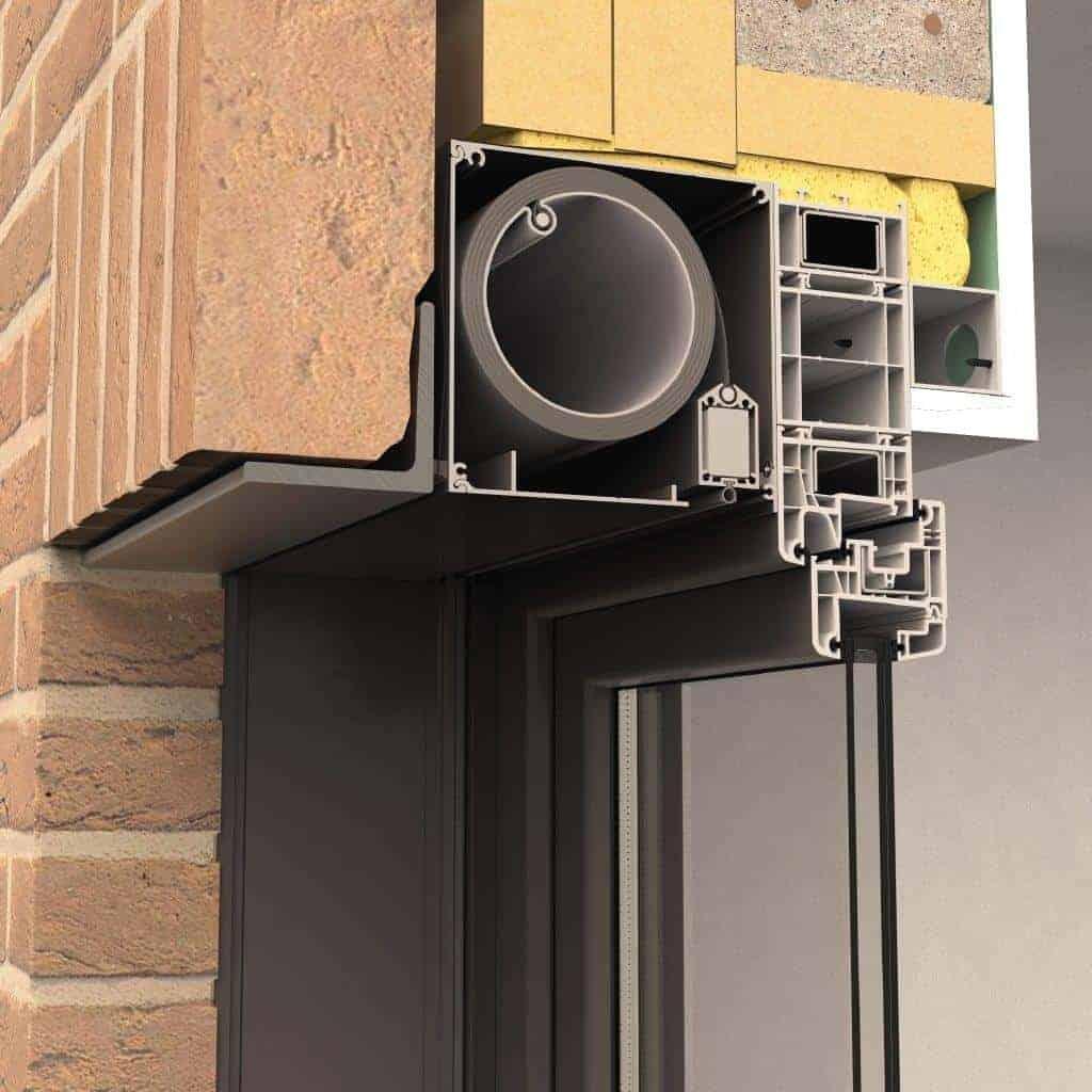 Fixscreen 150 udvendig solafskærmning til indbygning i facaden