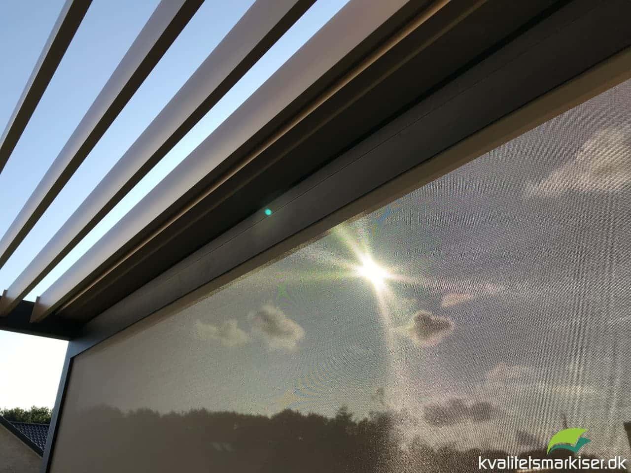 Overdækket terrasse med Renson Algarve pergola