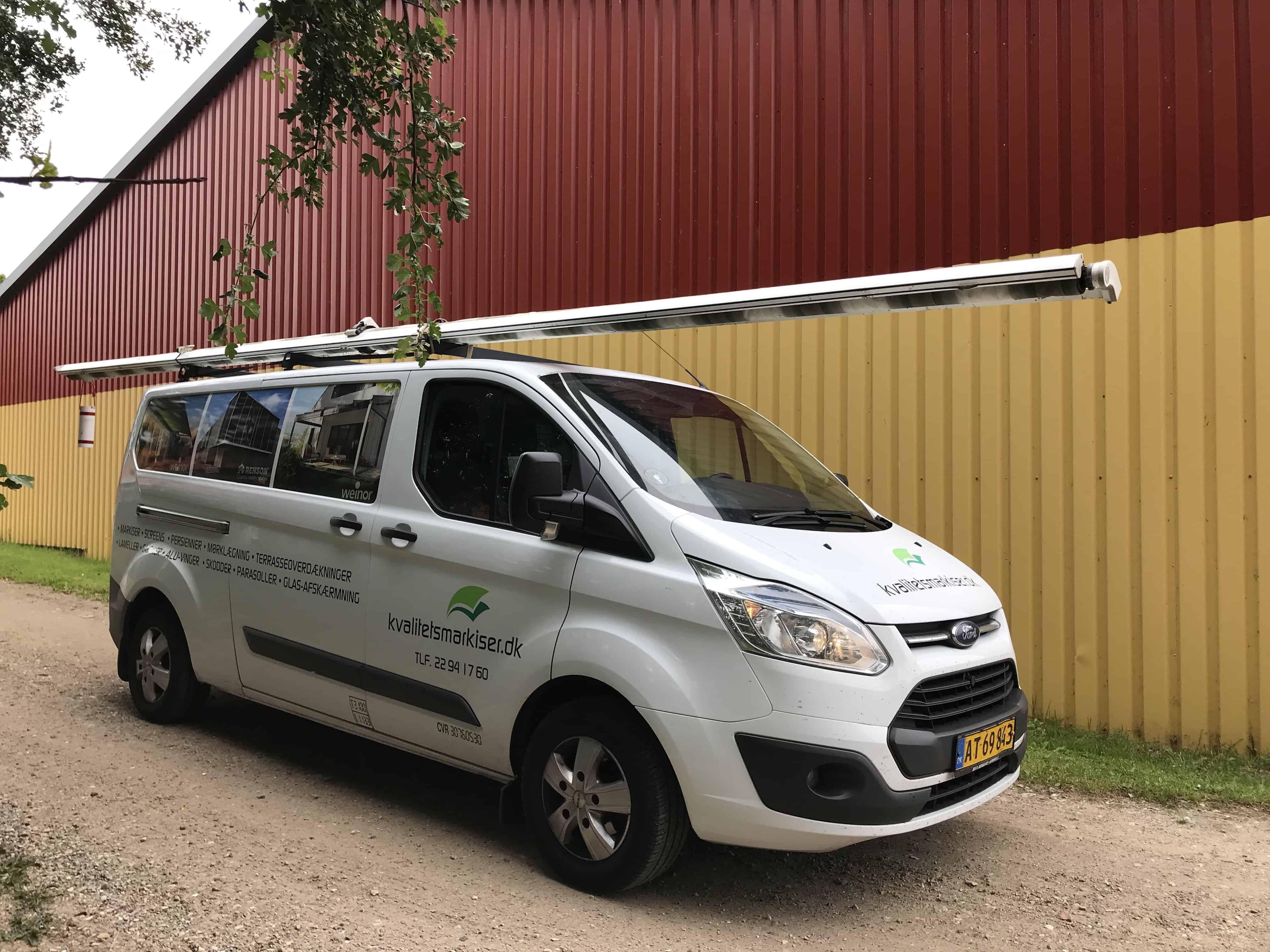 Montage og opsætning af markiser og solafskærmning i hele Danmark