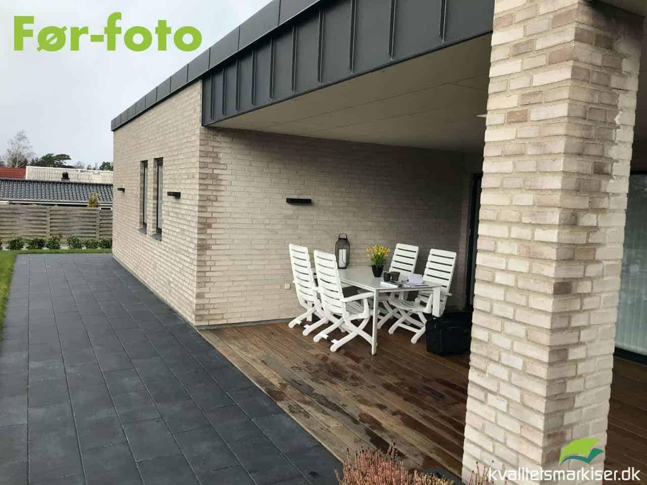 Skydeglas til overdækket terrasse
