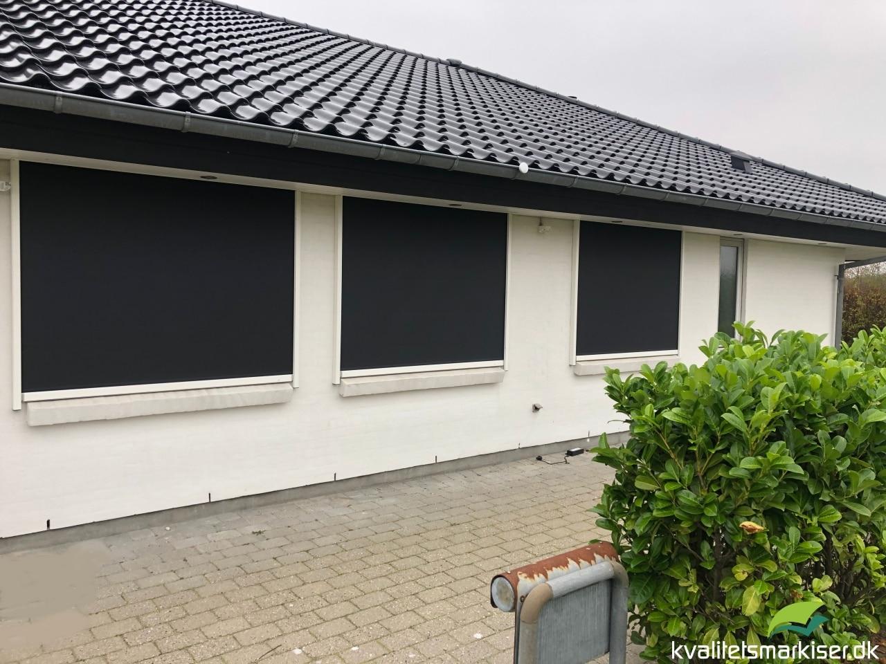 Renson Fixscreen 100 solafskærmning indbygget i udhæng